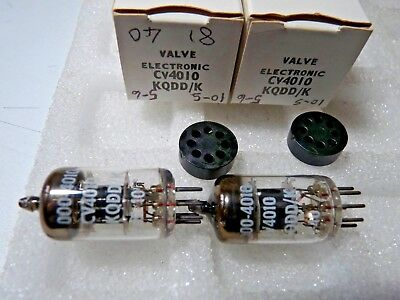 M8100 CV4010 EF95 Mullard Black Plate  8140 NOS E Matched Pair Valve Tube F18