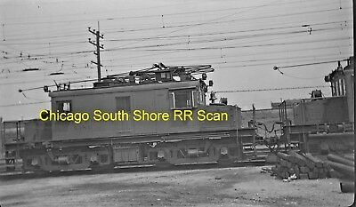 Chicago South Shore & South Bend Original B&w Trolley Negative Of Loco 1007