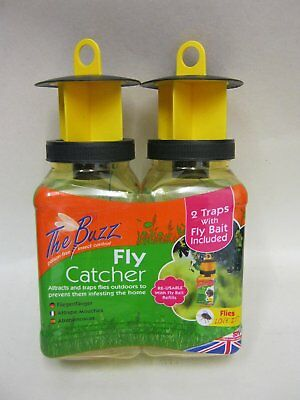 The Buzz Fly Catcher Refillable Insect Attractant for Outdoor use