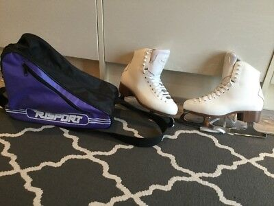 Jackson New English 500 Ice Skates With Holdall - Excellent Condition - Size 5