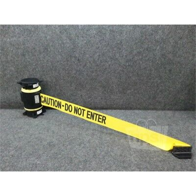 Banner Stakes 30ft Wall Mount Barrier Tape, Yellow, Caution-Do Not Enter