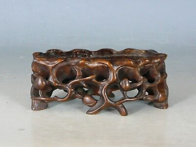 Chinese Carved Hardwood Stand 19Thc