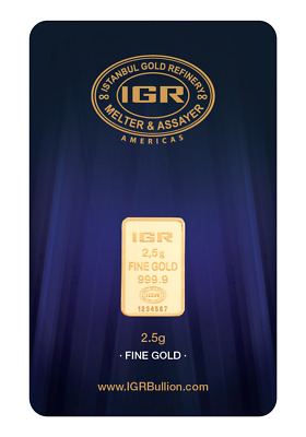 2.5 Gram  999.9 24K Istanbul Gold Refinery Bar IGR ( In Assay )
