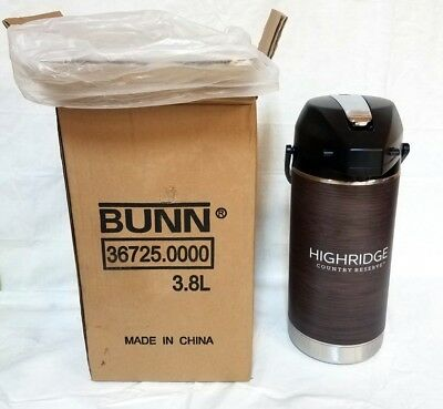 Bunn 3.8 Liter Stainless Steel Coffee Airpot / Carafe / Thermos With Wrap