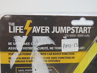 The Lifesaver Battery JS8000 12-Volt Portable Pack with Car Boost #AMZ13