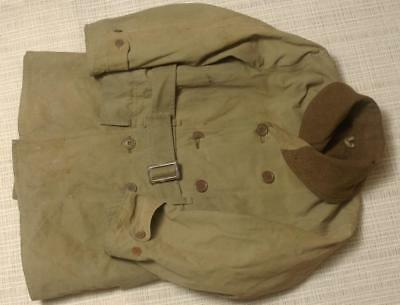 Original Wwii Us Army Mackinaw Coat Size 34 -Wool Lined- Good Solid Condition