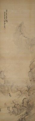 #9344 Japanese Hanging Scroll: Mountain Landscape