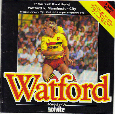 Watford v Manchester City 1985/86 FA Cup 4th Round Replay