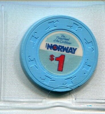 """$$$ OLD $1 NORWEGIAN CRUISE LINE NCL WET """" S S Norway """" CHIP   $2.99 SHIP"""
