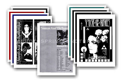 SIOUXSIE & THE BANSHEES - 10 promotional posters  collectable postcard set # 2