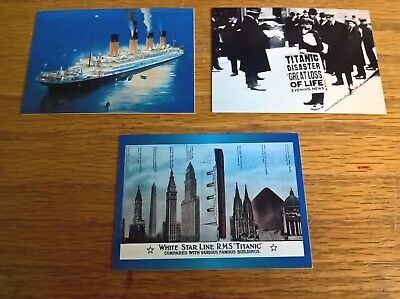 Dart trade trading cards: Titanic collector cards promo set of 3