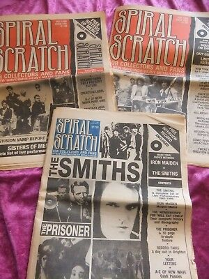 Spiral Scratch Magazines. First 3 Issues. 1988. New Wave, Heavy Metal, Indie. Vg
