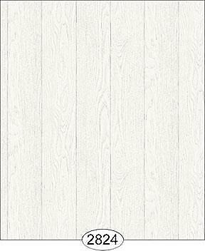 Miniature Dollhouse Wallpaper 1:12 Scale - Finished Wood - White - 2824