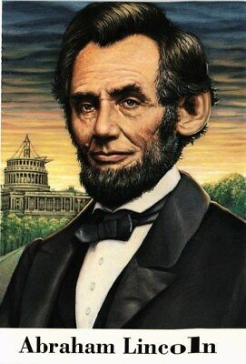 Dr Jim Stamps Us President Abe Lincoln Civil War First Day Postal Card 1995