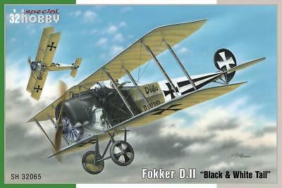 Special Hobby Fokker D.II Black & White Tail 1:32 Bausatz Kit 32065 Aircraft
