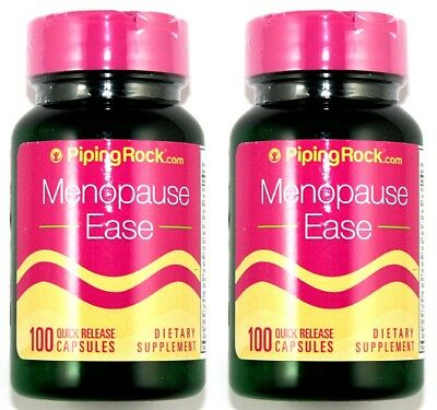 2 BOTTLES Menopause Ease Natural Herbal Support 100 Capsule Hot Flash Meno Pill
