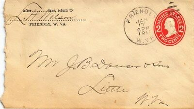 Dr Jim Stamps Us Friendly West Virginia Embossed Cover 1911