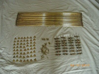14 Brass Stair Rods with Fleur De Lys Type Fittings