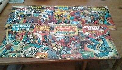 Marvel comics, PLANET OF THE APES,110-120,complete run,1976/77.