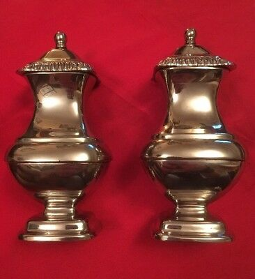 Vintage English Silver Plated Salt & Pepper Shakers