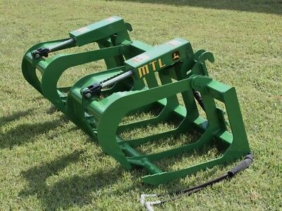 "2019 MTL Attachments 60"" Root Grapple Bucket fits John Deere Tractor Loader"