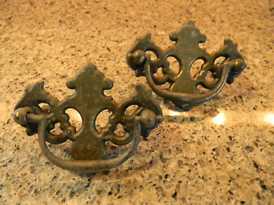 """2 Vintage Drawer Pulls Allison Co. Made In Japan 3""""long X 2""""tall"""