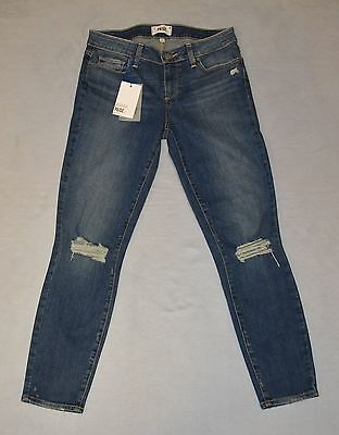 B0 NEW PAIGE Verdugo Crop Keely Destructed Jeans Size 29 $189