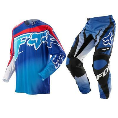 Fox Racing Adult 360 Flight / 180 Race Offroad MX Gear Set Blue Red Medium / 32