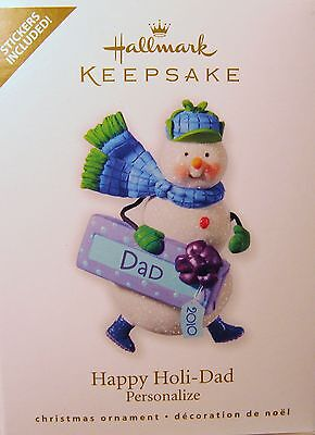 Hallmark  2010 Happy Holi - Dad (You Can Personalize This One) Stickers Included