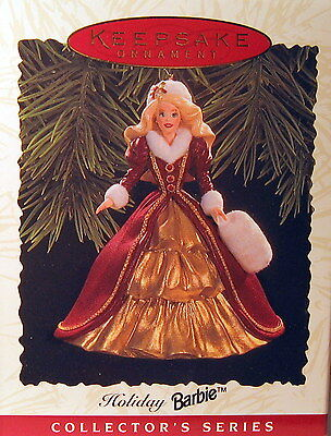 HALLMARK 1996 HOLIDAY BARBIE 4th IN SERIES