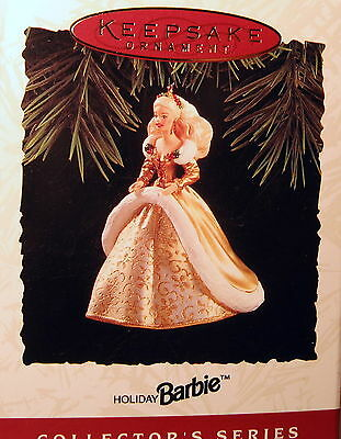 Hallmark 1994 Holiday Barbie #2  In Series   (Gold Dress)