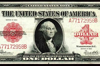 $1 1923 (( RED SEAL )) United States Note ** MORE CURRENCY FOR SALE **