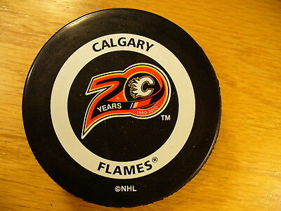 NHL Calgary Flames '00 20th W/O Inglasco Official Game Hockey Puck Collect Pucks