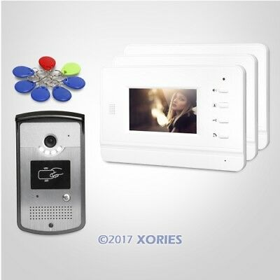4.3inch Video Door Phone Intercom System with IR Night Vision for Home Security