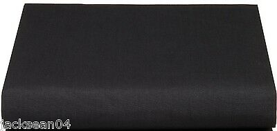 Superb Quality Single Bed Bedroom Black Cotton Percale Fitted Valance Sheet