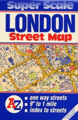 Super Scale Map of London by Geographers' A-Z Map Company Sheet map, folded The