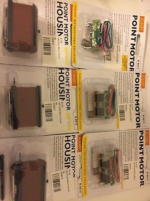 Hornby Point Motor Switch Machines x3 R8014 housing x3 R8015