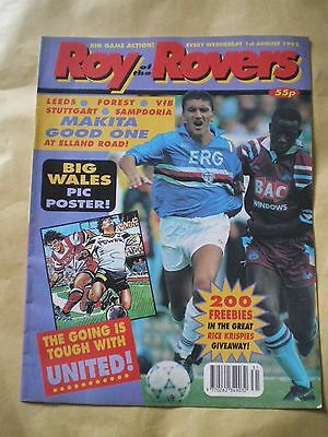 Roy Of The Rovers Comic - 1St August 1992