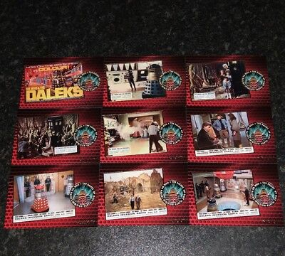 Dr / Doctor Who The Daleks 2150 Gold Foil Chase Set Trading Cards F1 - F9