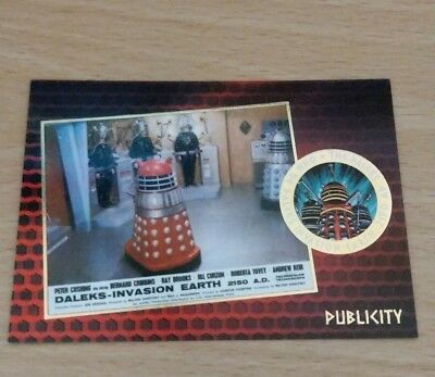 Dr / Doctor Who The Daleks 2150 Gold Foil F7 Chase Trading Cards