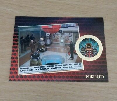 Dr / Doctor Who The Daleks 2150 Gold Foil F9 Chase Trading Cards