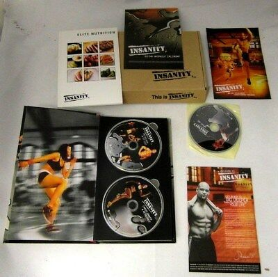 Beachbody INSANITY workout dvd's Shaun T 13 DVDs BOXED  Used Excellent Condition