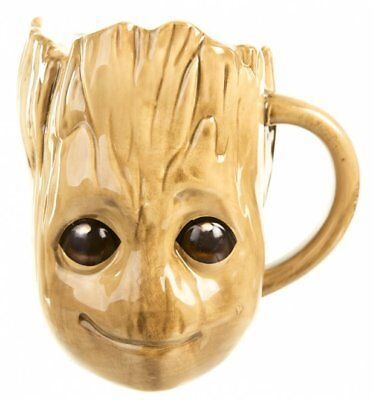 Marvel Comics Guardians Of The Galaxy Groot 3D Large Coffee Mug Cup Gift Boxed