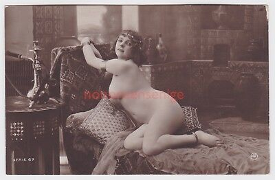 MISS FERNANDE France EROTIC RISQUE NAKED NUDE NU WOMAN Serie 67 REAL PHOTO - 03