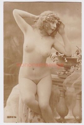 MISS FERNANDE France EROTIC RISQUE NAKED NUDE NU WOMAN Serie 73 REAL PHOTO - 07