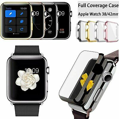 For Apple Watch 1 2 3 4 Full Case Cover +Screen Protector iWatch 38/42mm 40/44mm