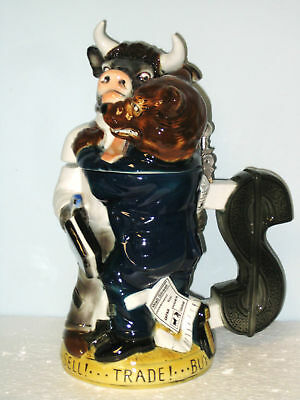 Bull & Bear Limited Edition Collectible Beer Stein #6078