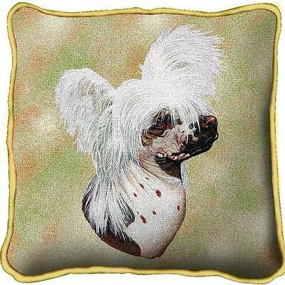 """17"""" x 17"""" Pillow - Chinese Crested by Robert May 5668"""