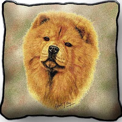 """17"""" x 17"""" Pillow - Chow Chow by Robert May 1165"""