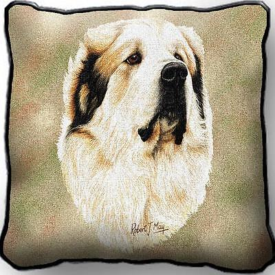 "17"" x 17"" Pillow - Great Pyrenees by Robert May 1188"